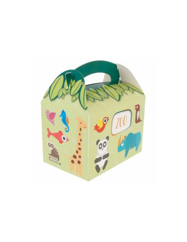 Boîte pour menu enfant, modèle 'ZOO' 320 G/M2 17x16x10 CM