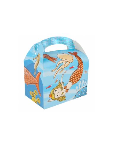 """Boîte pour menu enfant, modèle """"MER"""" 320 G/M2 17x16x10 CM"""