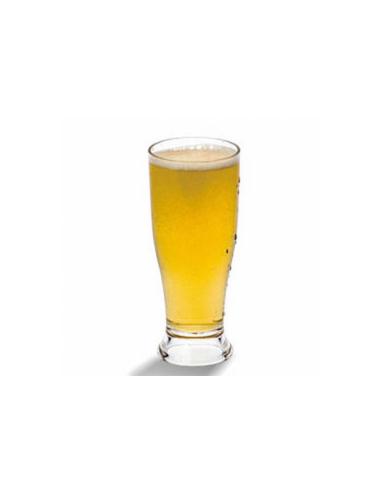 Verre à bière transparent en polycarbonate 340 ML Ø 7x16.5 CM