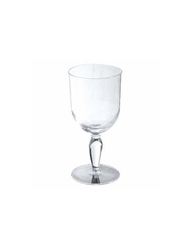 Verre à pied à eau transparent en polycarbonate 340 ML Ø 7.9x18.3 CM
