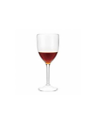 Verre à pied à vin transparent en polycarbonate 175 ML Ø 6.8x13.5 CM