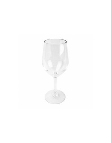 Verre à pied à vin transparent en polycarbonate 395 ML Ø 6.1x21 CM