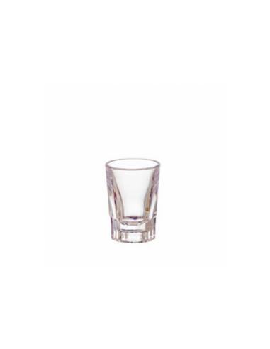 Verre à shot transparent en polycarbonate 55 ML Ø 5.5x7.5 CM