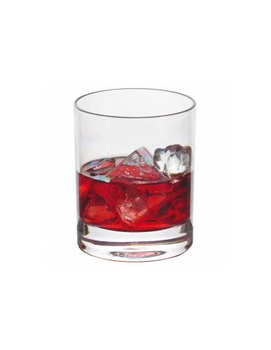 Verre à Whisky transparent en polycarbonate 350 ML Ø 8.2x9.5 CM