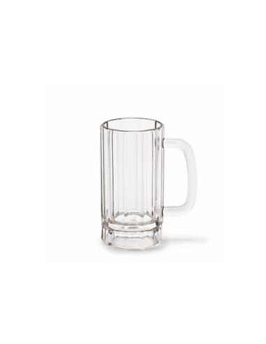 Chope à bière transparente en polycarbonate 365 ML Ø 7.3x13 CM