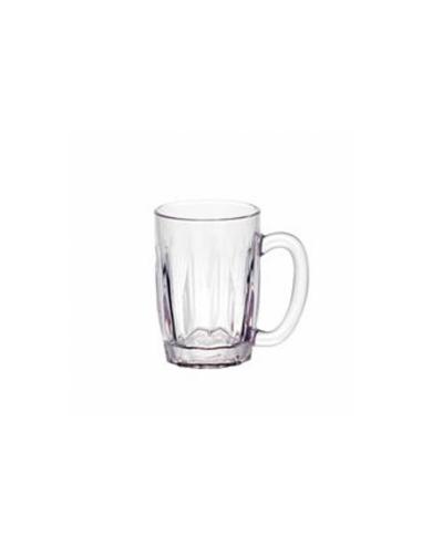 Chope à bière en polycarbonate transparent 630 ML Ø 9.5x12 CM