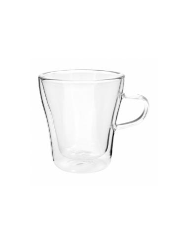 Tasse double paroi en verre borosilicate 240 ML 8 (h) CM