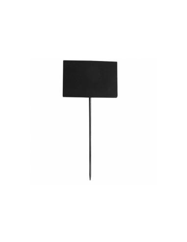 Pique ardoise rectangulaire noir en bambou 8x5.4x18 CM