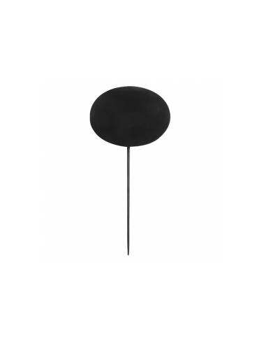 Pique ardoise ovale noir en bambou 8x6x18 CM