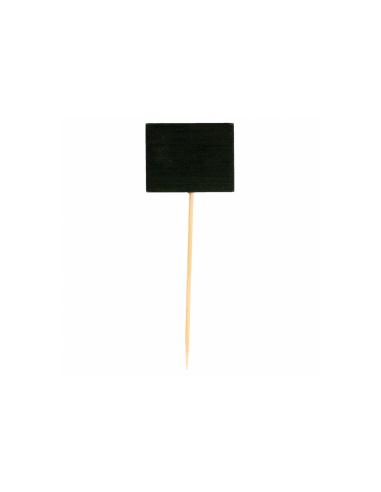 Pique ardoise ovale noir en bambou 9 (h) CM