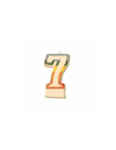 Bougie anniversaire n°7