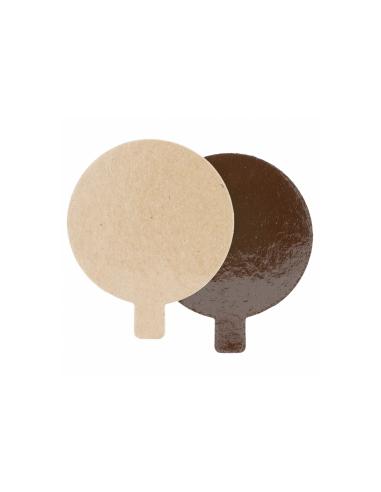 Support rond en carton pour pâtisseries 1100 g/m² ø 8 cm
