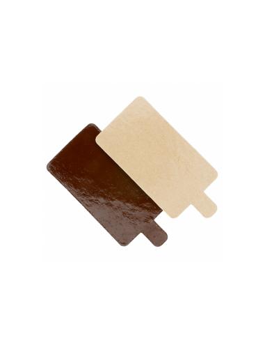 Support rectangulaire en carton pour pâtisseries 1100 g/m² 4.5x13 cm