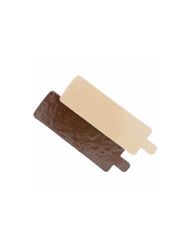 Support rectangulaire en carton pour pâtisseries 1100 g/m² 5.5x9.5 cm