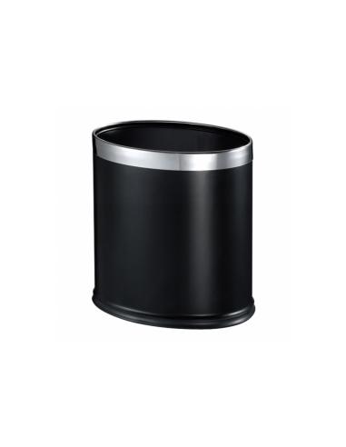 Corbeille noire ovale