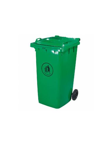 Conteneur poubelle avec couvercle 2 roues 240L 101
