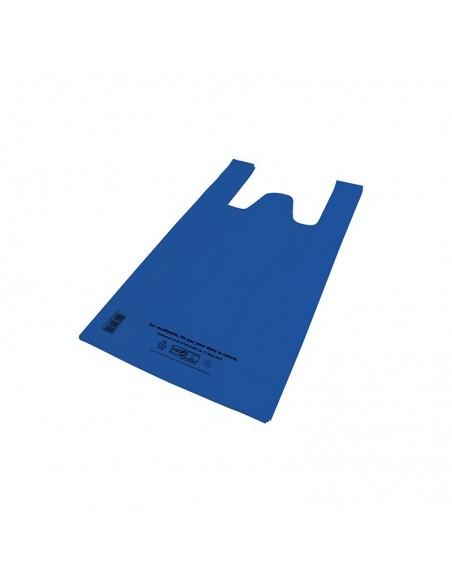 Sacs bretelles réutilisables 50µ - 26+12x45CM - Bleu
