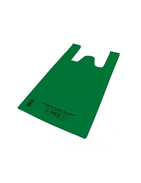 Sacs bretelles réutilisables 50µ - 26+12x45CM - Vert