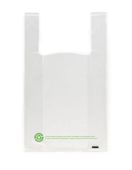 Sacs bretelles réutilisables 50µ - 26+12x45CM - Transparent