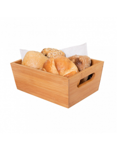 Corbeille à pain en bambou - 20x15x9 CM