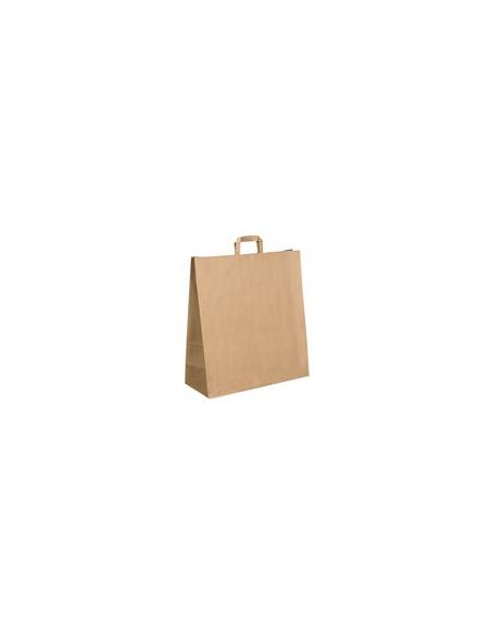 Sac cabas kraft brun - 32+22x36 cm