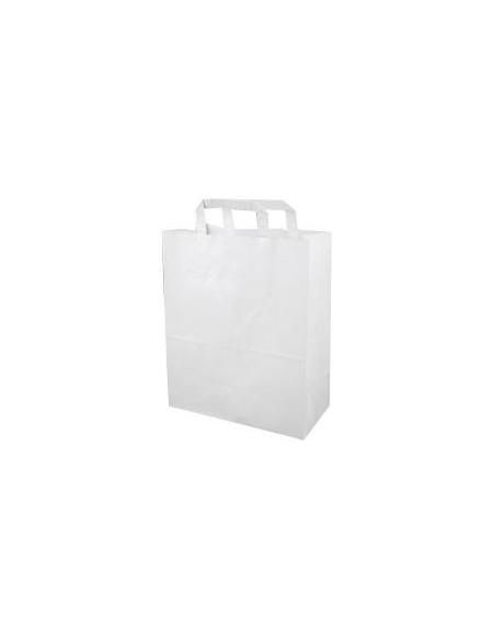 Sac kraft Blanc - taille 26+17x25 cm